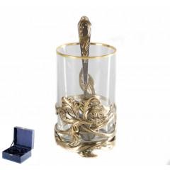 Подарок с гравировкой Подстаканники Подстаканники латунные Художественное литье 050103026, Подстаканник Ирис
