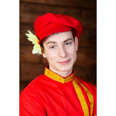 Русский народный костюм Картуз мужской КГВ-02-01-01, единый