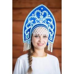 Русский народный костюм КОКОШНИКИ Кокошник Анна АНН-00-02-00, 16 см