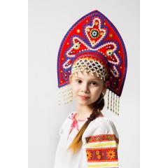 Русский народный костюм КОКОШНИКИ Кокошник Анна АНН-00-01-00, Высота 16 см