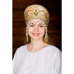 Русский народный костюм КОКОШНИКИ Кокошник Виктория ВИК-00-09-00, 11 см
