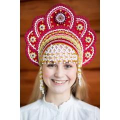 Русский народный костюм КОКОШНИКИ Кокошник Елена ЕЛЕ-00-10-00, 12,5 см