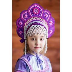 Русский народный костюм КОКОШНИКИ Кокошник Елена ЕЛЕ-00-07-00, 12,5 см