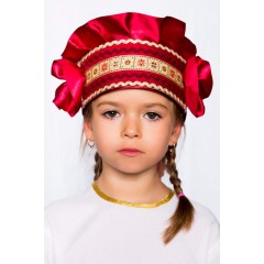 Русский народный костюм КОКОШНИКИ Кокошник Настенька НАС-00-10-00, цвет Бордо