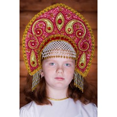 Русский народный костюм КОКОШНИКИ Кокошник Ульяна УЛЯ-01-01-00, 16 см