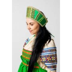 Русский народный костюм КОКОШНИКИ Кокошник Марья МИС 00-08-00, Высота 11 см