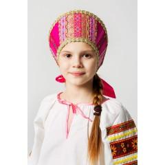 Русский народный костюм КОКОШНИКИ Кокошник Марья МИС-00-05-00, Высота 11 см