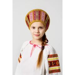 Русский народный костюм КОКОШНИКИ Кокошник Марья МИС -00-10-00, Высота 11 см