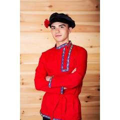 Русский народный костюм КОСОВОРОТКИ Косоворотка Емеля ЕМЕ-00-01-00, рост 146-152