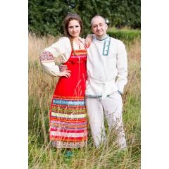 Русский народный костюм ФАРТУКИ красный, 115