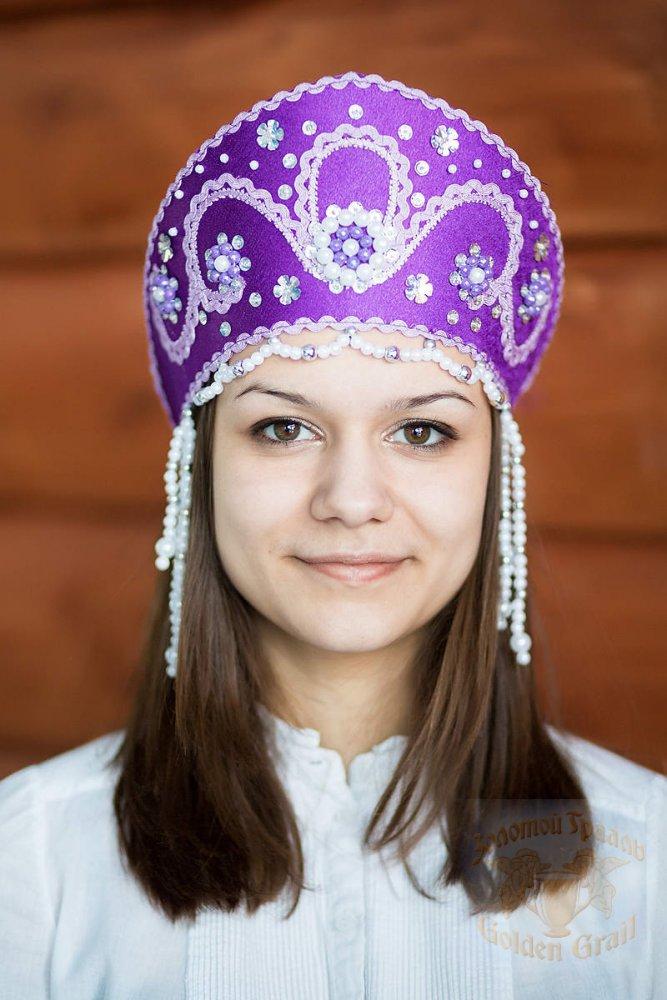 Русский народный костюм КОКОШНИКИ Кокошник Алина АЛИ-00-07-00, 11 см