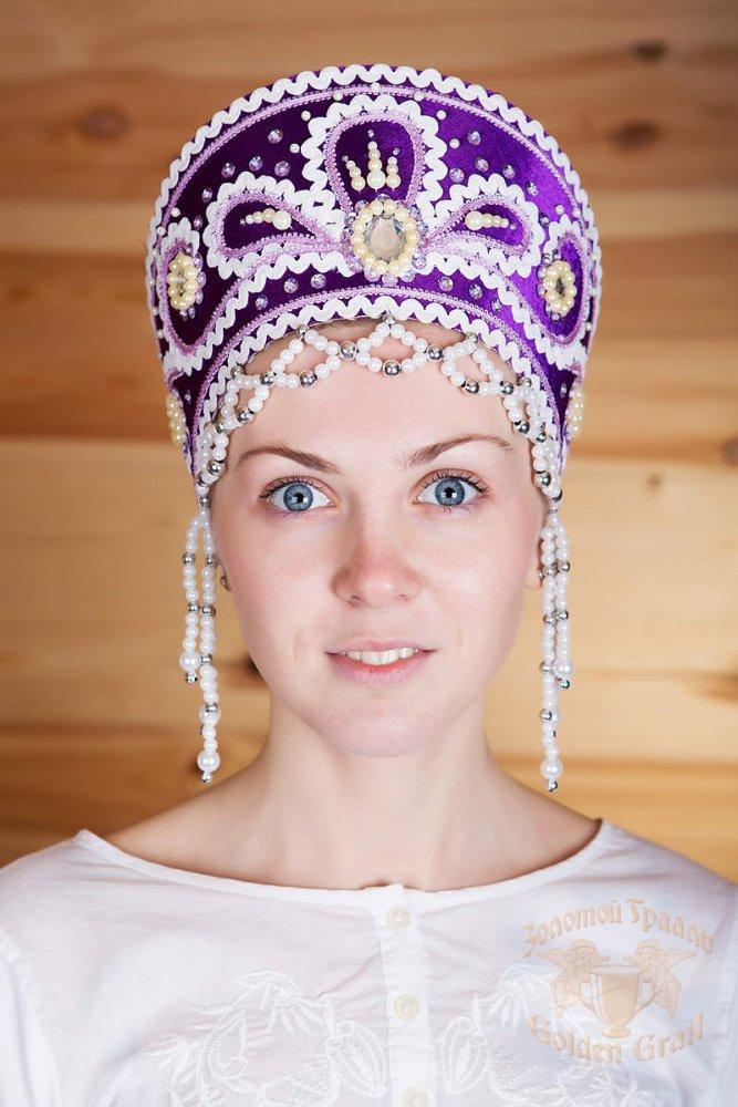 Русский народный костюм КОКОШНИКИ Кокошник Виктория ВИК-02-03-01, 11 см