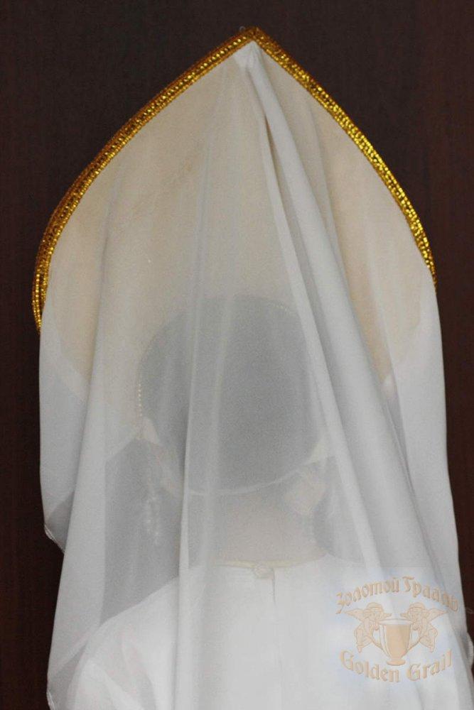 Русский народный костюм КОКОШНИКИ Кокошник Надежда НАД-00-12-00, 24 см