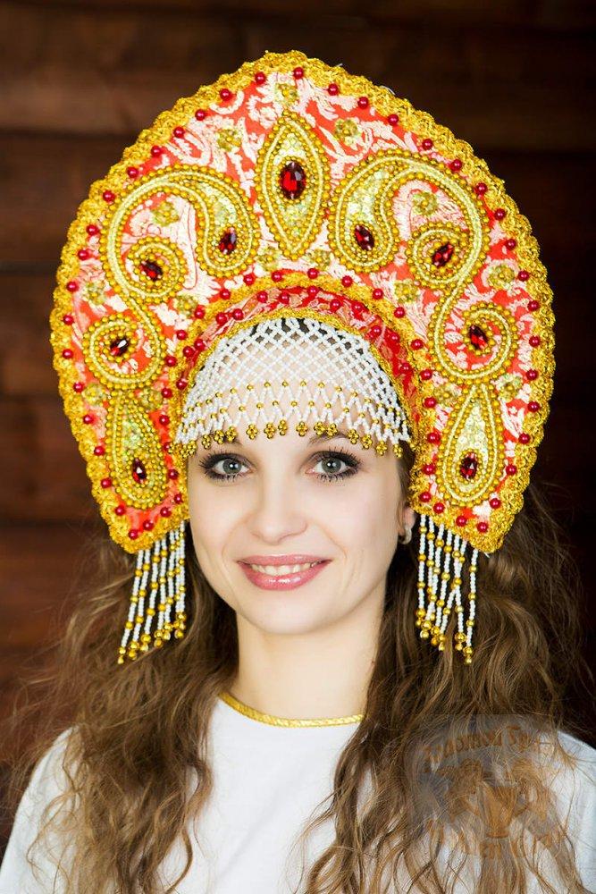 Русский народный костюм КОКОШНИКИ Кокошник Татьяна ТАТ-01-01-01, 16 см