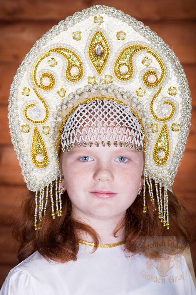 Русский народный костюм КОКОШНИКИ Кокошник Татьяна ТАТ-01-12-00, 16 см
