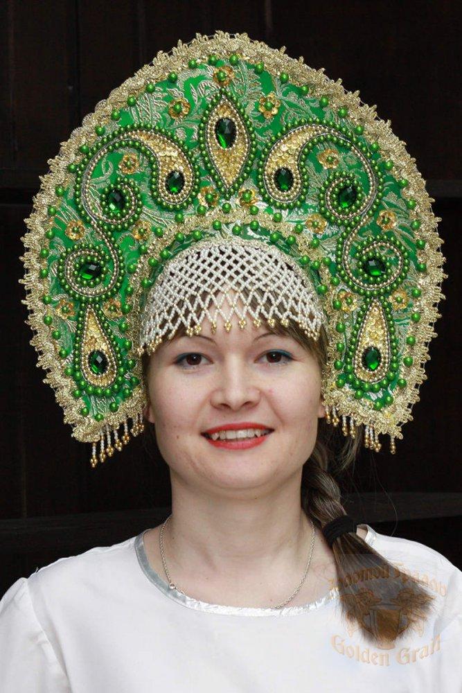 Русский народный костюм КОКОШНИКИ Кокошник Татьяна ТАТ-02-26-00, 16 см