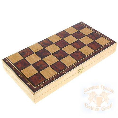 Подарок с гравировкой Настольные игры Шахматы, шашки 030102005, Набор средний 3 в 1 Классические  (Шахматы, нарды, шашки)