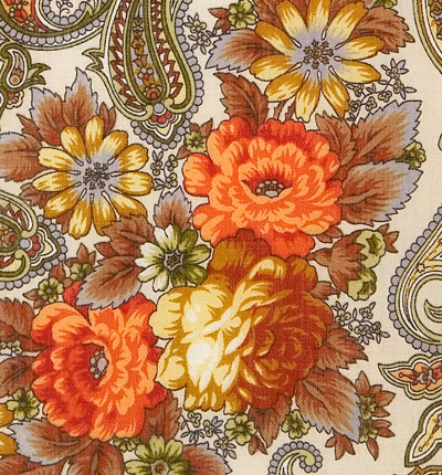 """Платок Павловопосадский с шелковой бахромой 125x125 1463-3 """"Сон бабочки"""", вид 13"""