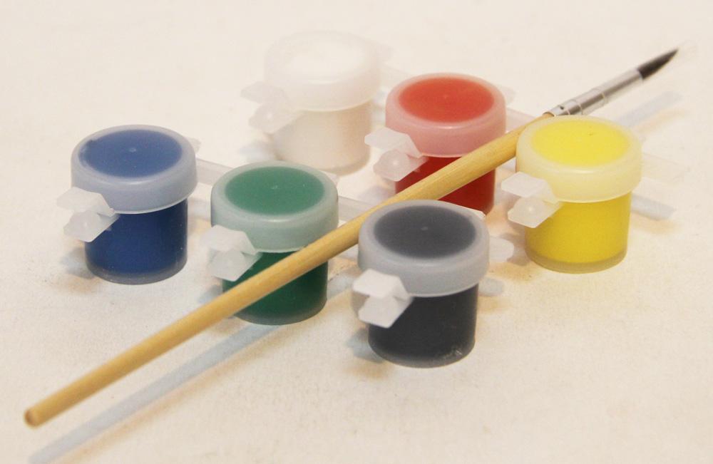Набор 3 магнита с красками и кисточкой