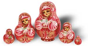 Матрешка Сергиево-Посадская 5 мест Роза