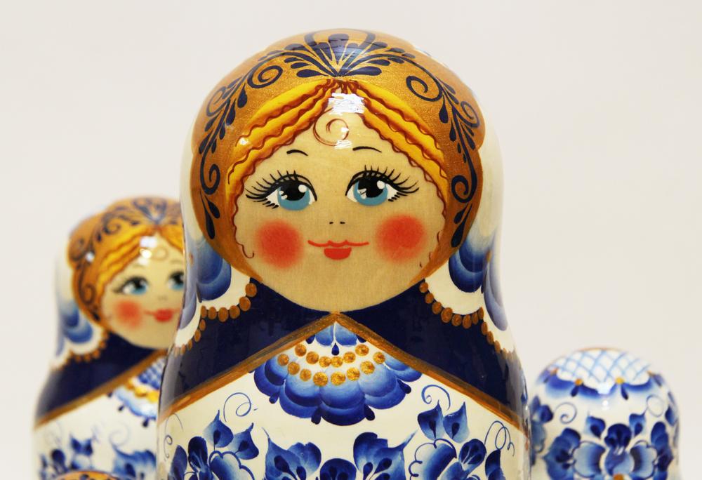 Матрешка Сергиево Посадская 10 мест Гжель (951)