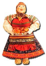 Кукла авторская Галина Масленникова А2-14 Баба с блюдом