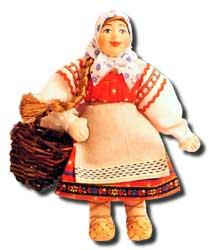 Кукла авторская Галина Масленникова А2-8 Девочка с лукошком