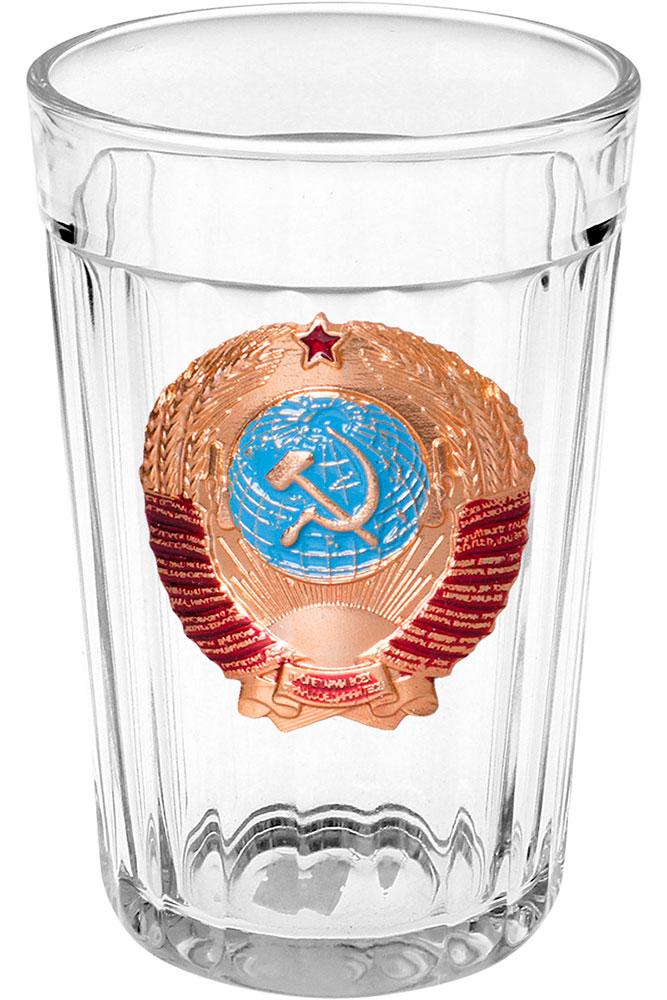 Посуда Стакан граненый, Герб СССР