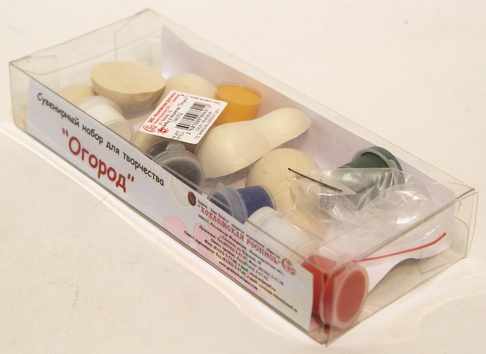 Огород, набор для творчества (магниты, краски, кисточка в упаковке)