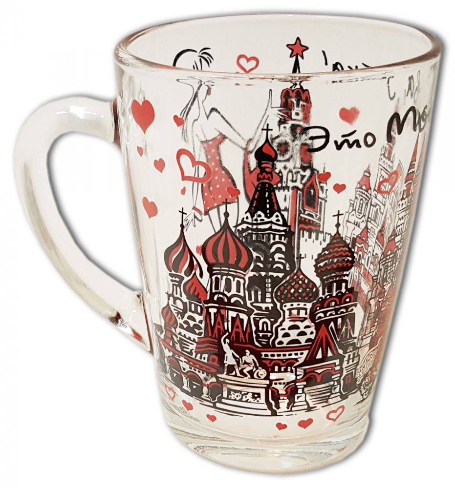 "Кружка 068-2-19-rus стекло 320 мл ""Это Москва, детка"""