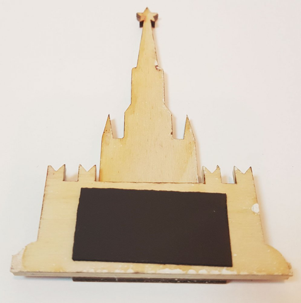 Магнит деревянный Кремль, дерево