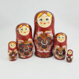Матрешка Сергиево-Посадская 5 мест Реснички бол.