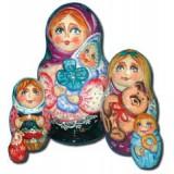 Матрешка Сергиево-Посадская 5 мест Женщина с ребенком
