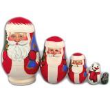 Новый Год и Рождество матрешка 5 мест Дед Мороз Лидия