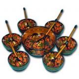 Хохлома сувенирная Набор для варенья (6  персон)