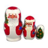 Новый Год и Рождество матрешка 3 места Дед Мороз Лидия
