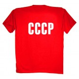 Футболка L СССР, L, красная