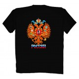 Футболка M Герб России, M, черная