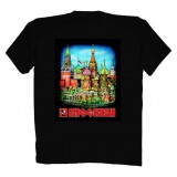 Футболка XXL Москва Красная Площадь, XXL черная