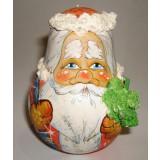 Неваляшка лепнина Дед Мороз с елкой в руках 10 см ПГ (елочная...