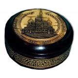 Береста шкатулка 30802 круглая покровский собор