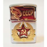 Зажигалка zippo со значками СССР