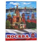 """Магнит металлический 02-19K21 мет. плоский """"Москва..."""