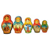 Магнит смола 02-34N2-19 набор Матрешки Москва
