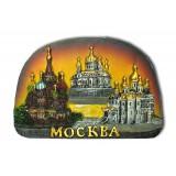 """Магнит полистоун 022-26-19K6 полуовал рельефный """"Москва. Коллаж..."""