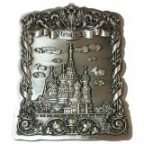 Магнит 027-5ATN-18 рельефный Москва ХВБ цв.серебро