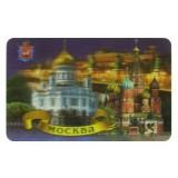 """Магнит виниловый 028-19K20 3D """"Москва. Ночь"""""""