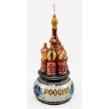 Музыкальный собор - макет Россия, Гжель бирюза, 21 см.,...