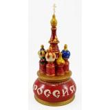 Музыкальный собор - макет Россия, красный, 21 см., невращающийся,...