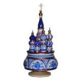 Музыкальный собор - макет Гжель, Россия, вращающийся, 23, Храм...
